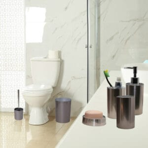 Noumea Collection Bath Accessories Set 6-Pieces