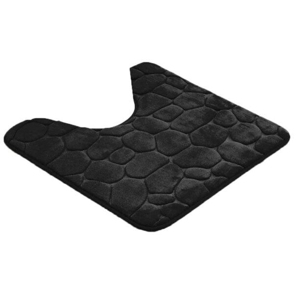 """Contour Toilet Bath Rug U-Shaped 3D Cobble Stone Memory Foam 20"""" x 20"""""""