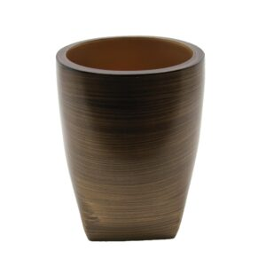 Vanity Bath Water Tumbler WENGE Effect 10 FL-Polyresin-Brown Gold