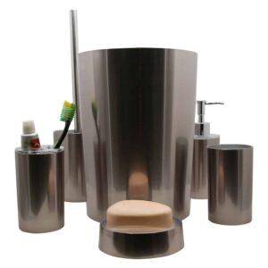 Noumea Collection Bath Accessories Set 6-Pieces