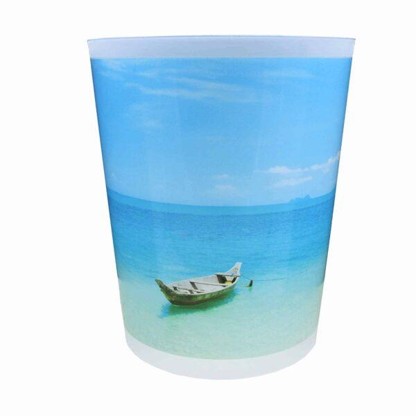 Coconut Island Printed Trash Can Wastebasket Plastic 4.5-liters-1.2-Gal