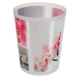 Orchid Printed Trash Can Wastebasket Plastic 4.5-liters-1.2-Gal