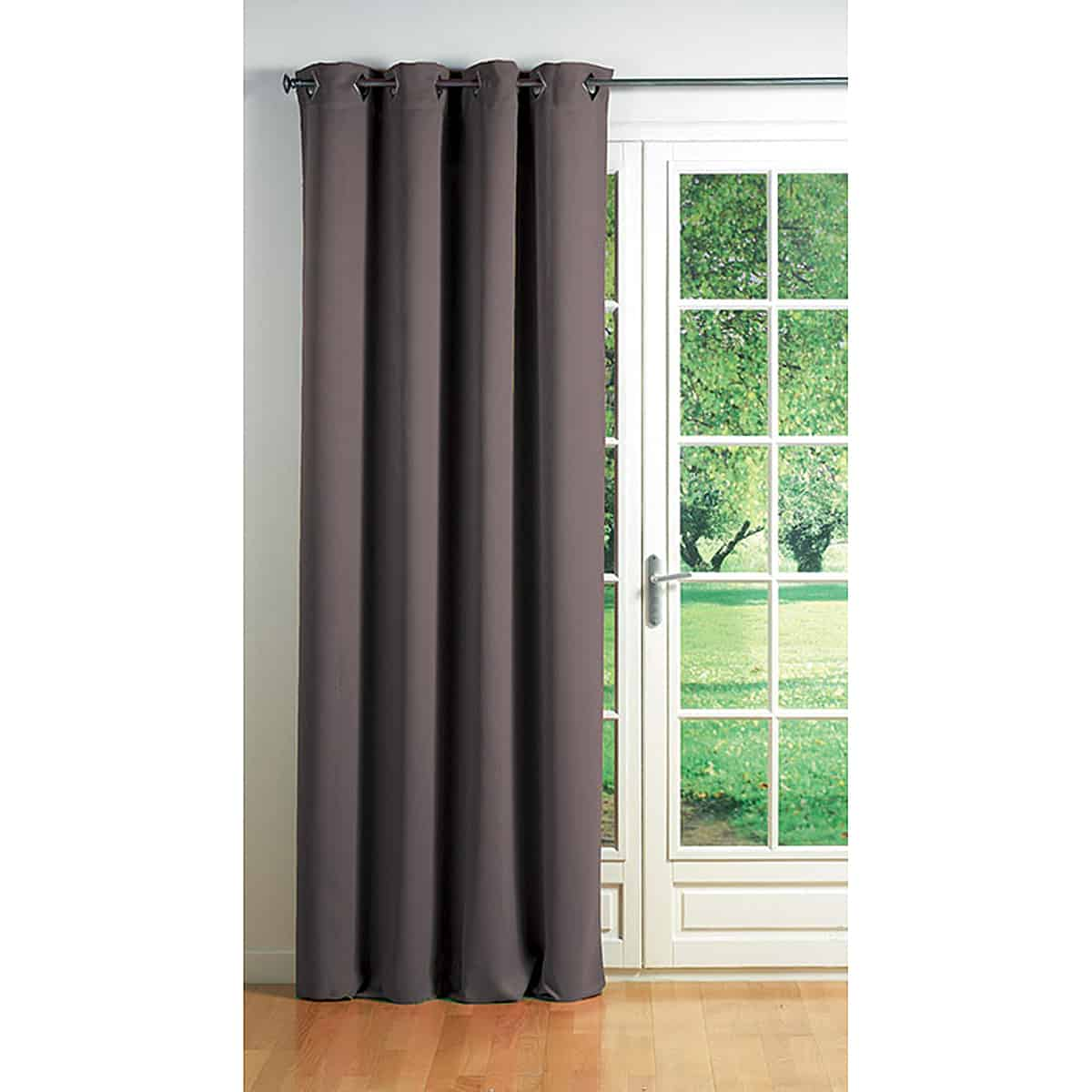 Blackout Window Curtain Panel Square Grommets Cocoon Solid Color 55 W x 102''L Taupe