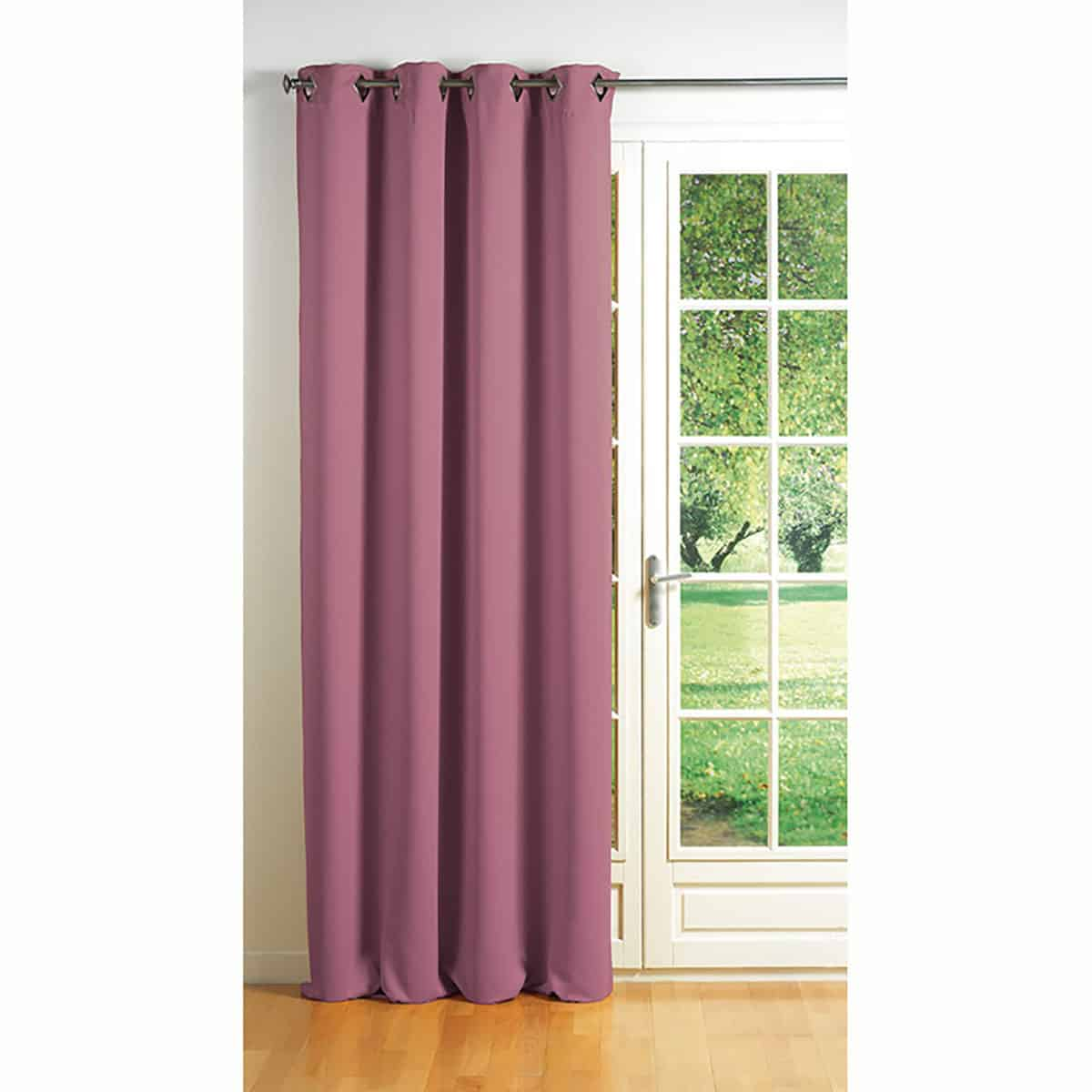 Blackout Window Curtain Panel Square Grommets Cocoon Solid Color 55 W X 102''L Pale Pink
