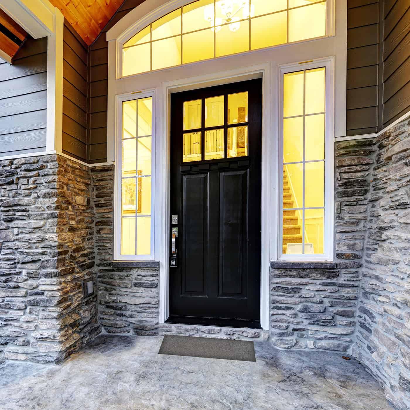 Sheltered Long Front Door Mat Coir Coco Fibers Rug 30x10 Grey