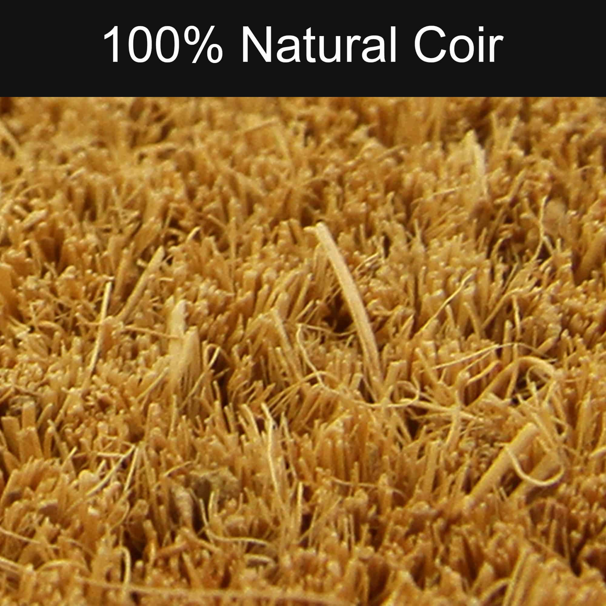 """Welcome Home 30"""" x 10"""" Sheltered Long Front Door Mat Coco Coir Fibers Natural Color"""