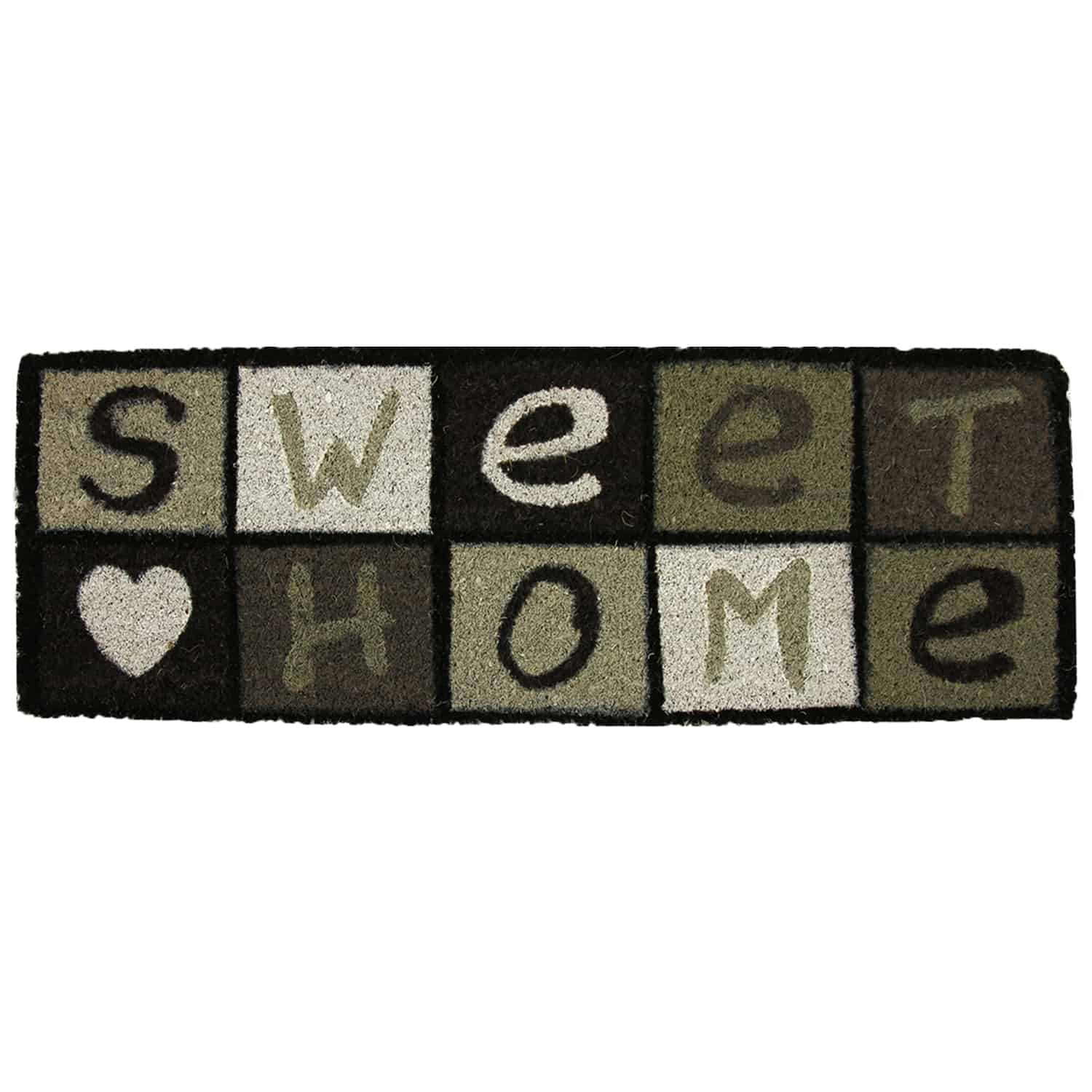 Sheltered Printed Large Front Door Mat Sweet Home Coir Coco Fibers Rug 30L x10W Inch