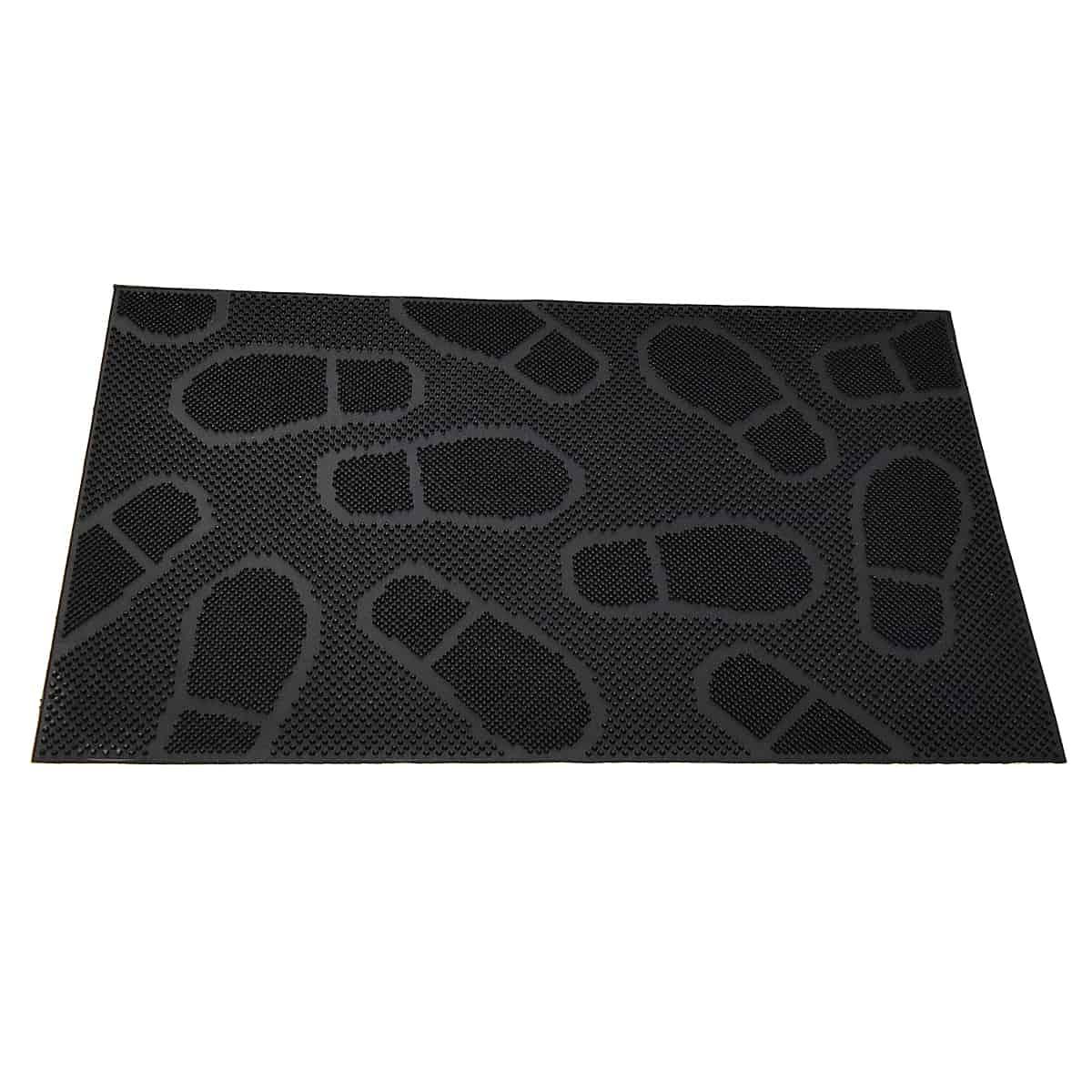 Outdoor Front Door Mat 30x18 Rubber Shoeprint