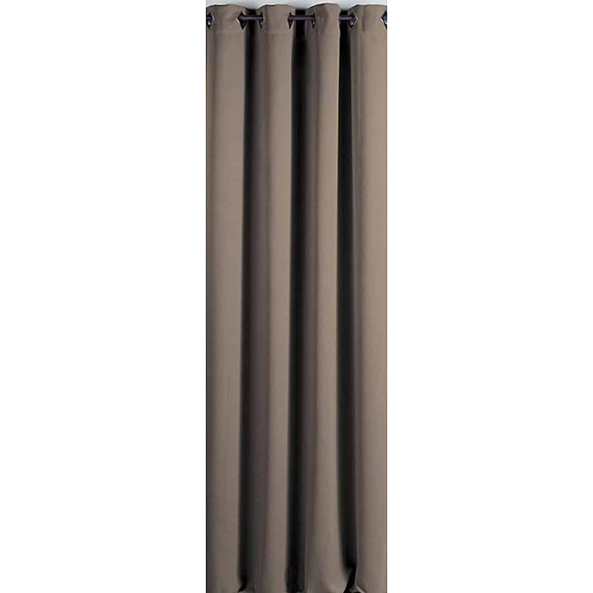 Blackout Window Curtain Panel Square Grommets Cocoon Solid Color 55 W x 102''L 55 W X 102''L Dark Beige
