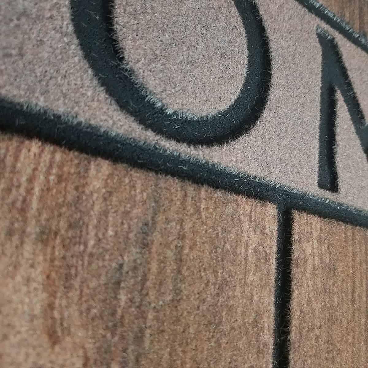 Outdoor Front Door Mat Home Wood Flooring Rubber Rug 30x18 Brown