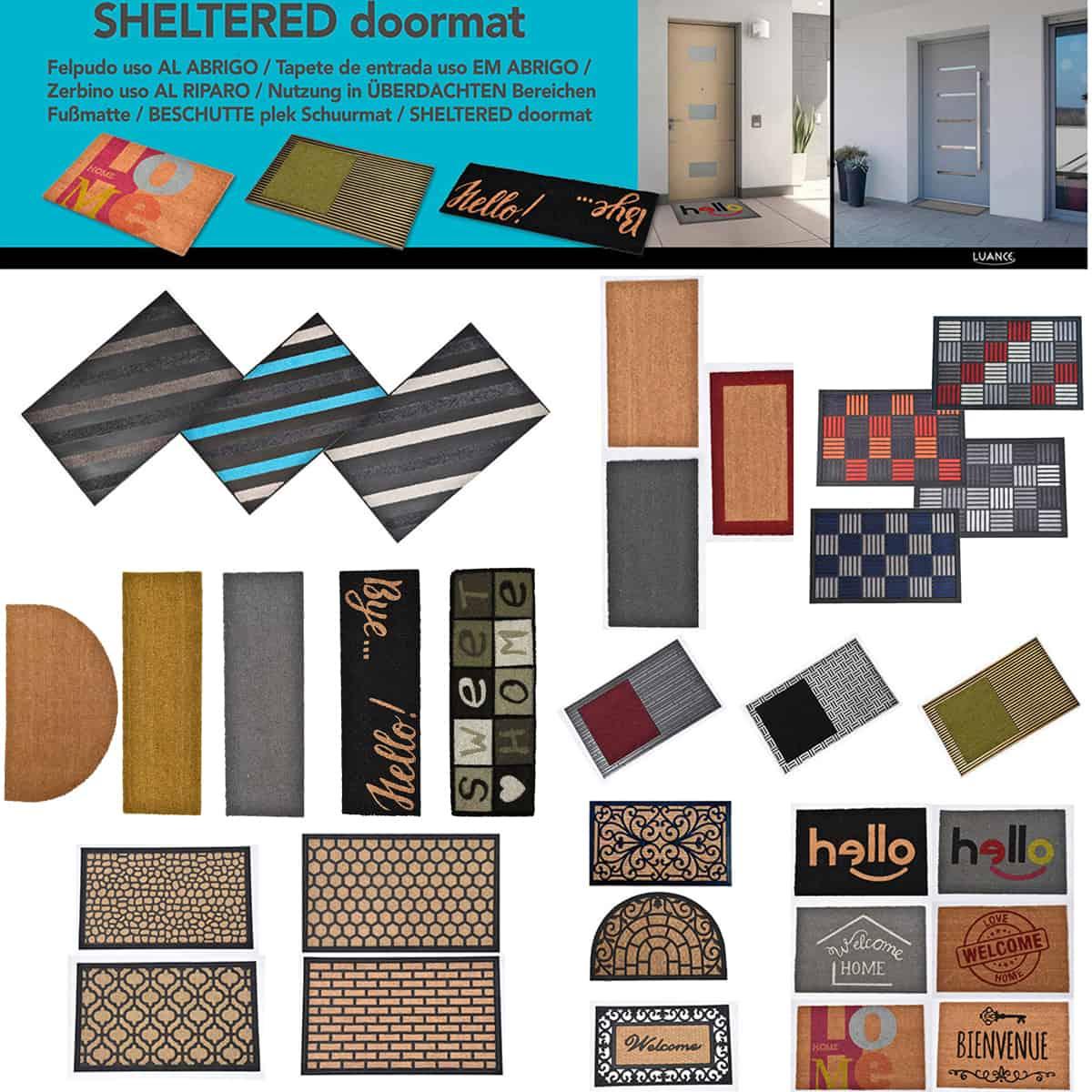 Sheltered Front Door Mat Coir Coco Fibers Rug 24x13 Natural