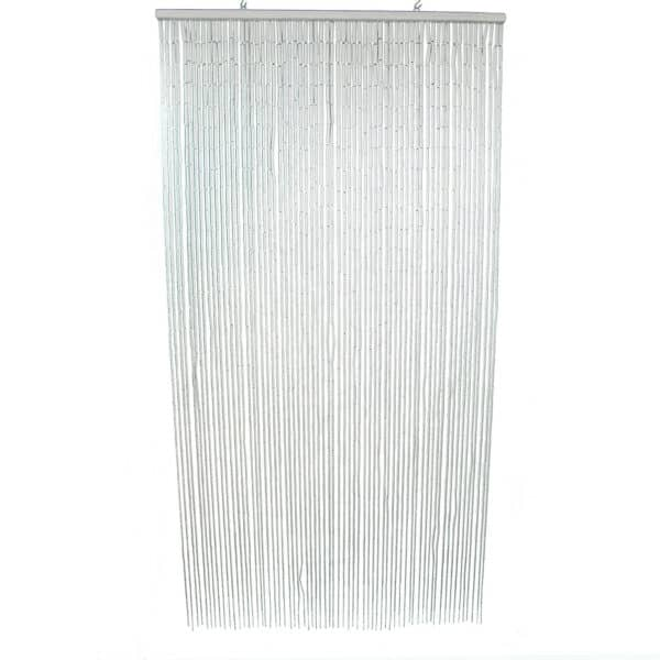 """Bamboo Sticks Beaded Curtain 65 Strings Off White 78.8""""H x 35.5""""W"""