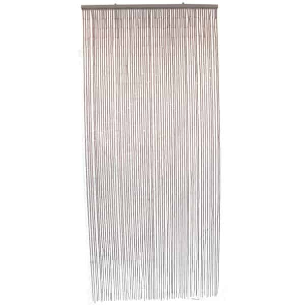 """Bamboo Sticks Beaded Curtain 65 Strings Taupe 78.8""""H x 35.5""""W"""