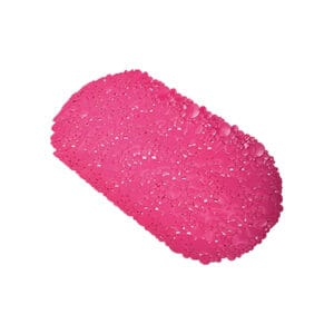 """Bathtub Mat Bubbles Pink 28""""L x 15""""W"""