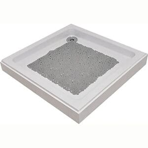 """Shower Mat Bubbles Pearly Grey 20""""L x 20""""W"""