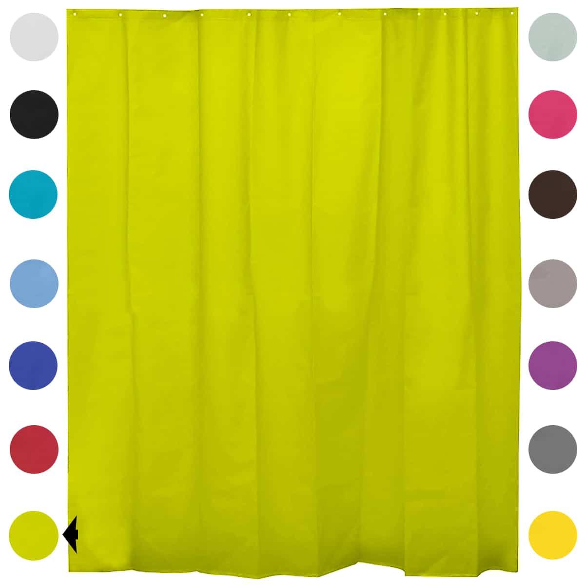 "Extra Length PEVA Bathroom Shower Curtain Lime Green 71""L x 79""H"