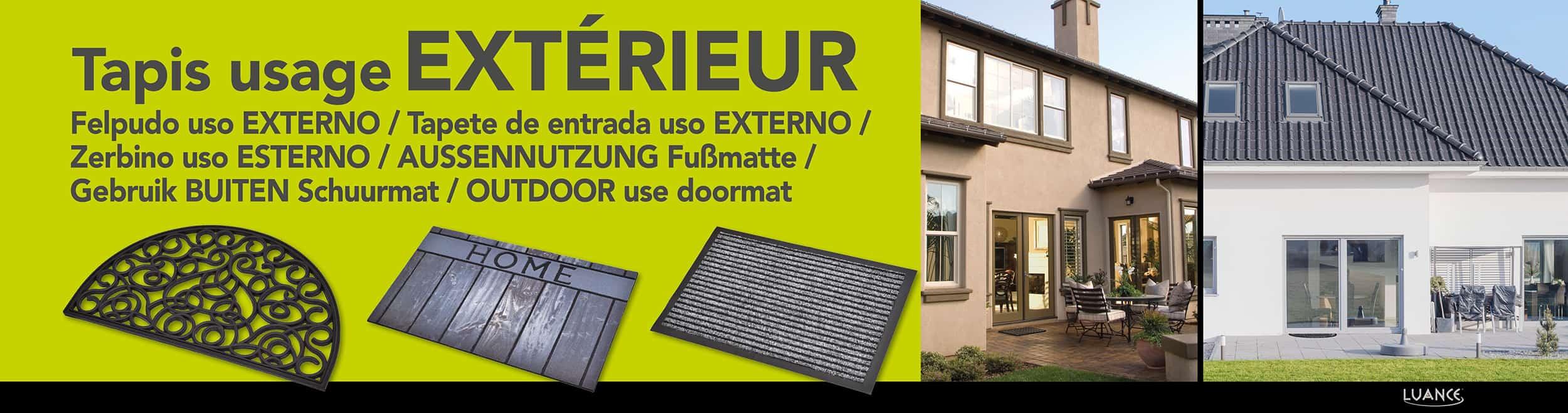 Outdoor Front Door Mat Mado Polypropylene Rug 24x16 Grey