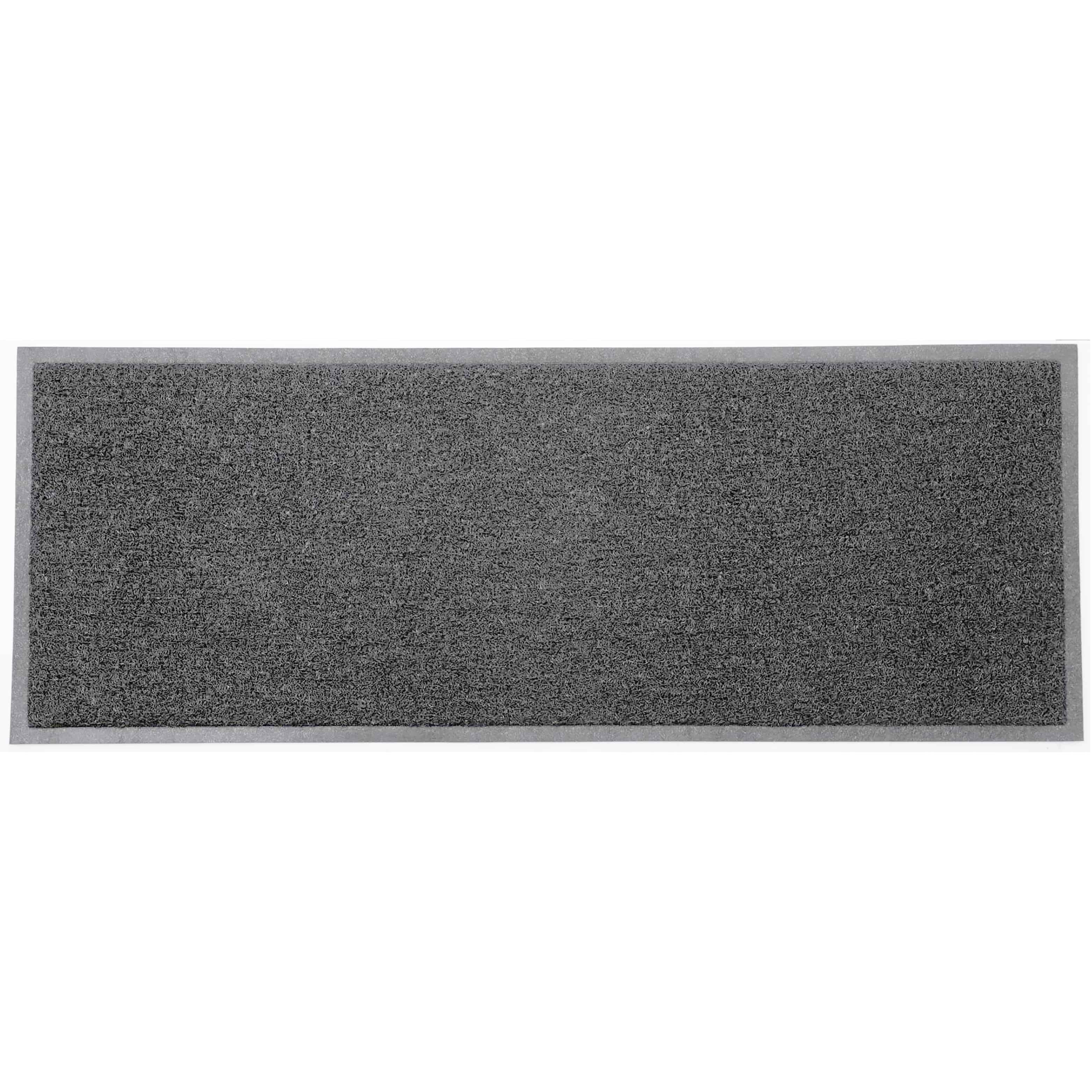 """Outdoor Runner Mat Scraper Front Door Mat Recycled PVC Non-Slip Backing 48""""x18"""" Grey"""