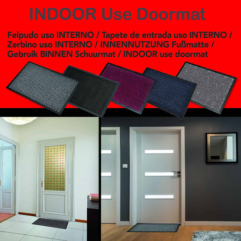 Indoor Door Mat Lisa 31 L x 24 W Inch PP-PVC - Burgundy