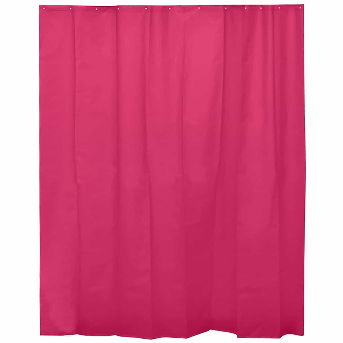 "Extra Length PEVA Bathroom Shower Curtain Pink 71""L x 79""H"