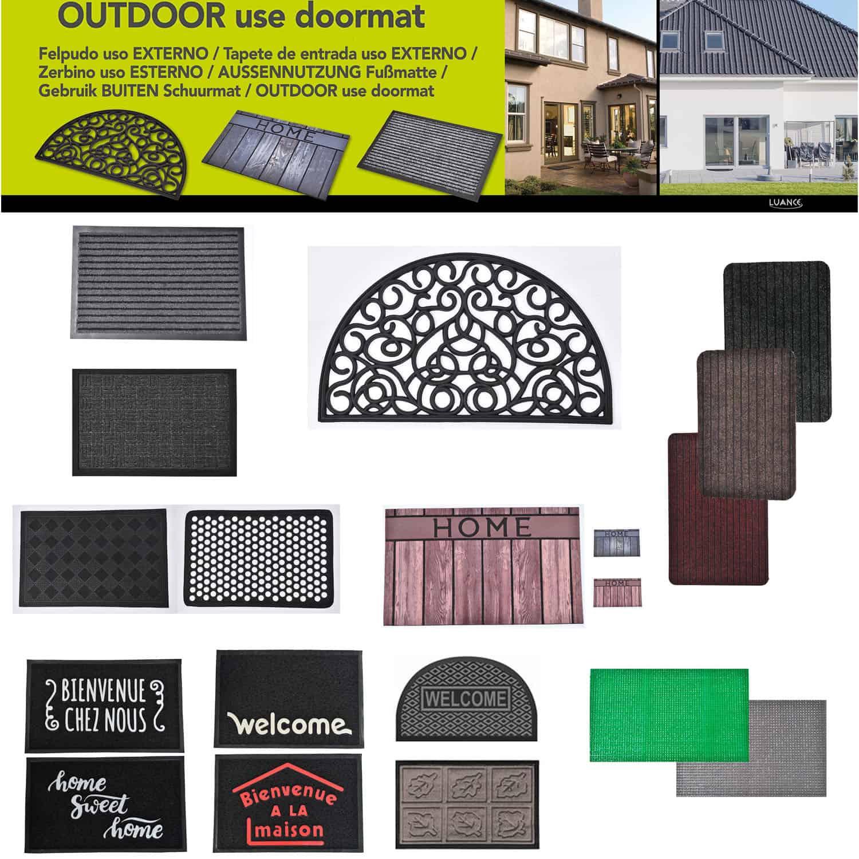 Outdoor Front Door Mat Pixie Artificial Grass Rug 24x16 Grey