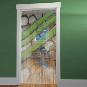 Bamboo Sticks Hanae Beaded Curtain Doorway 90 Strings