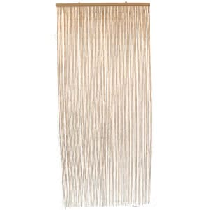 """Bamboo Sticks Beaded Curtain 65 Strings Natural 78.8""""H x 35.5""""W"""