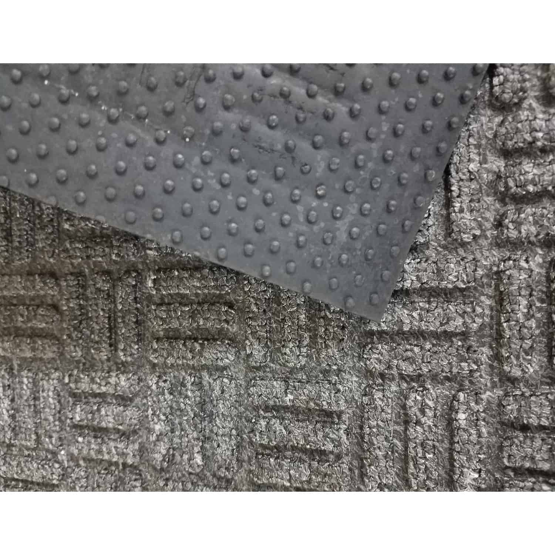 Outdoor Front Door Mat Checkerboard Yvan Polypropylene Rubber Rug 24x16 Grey