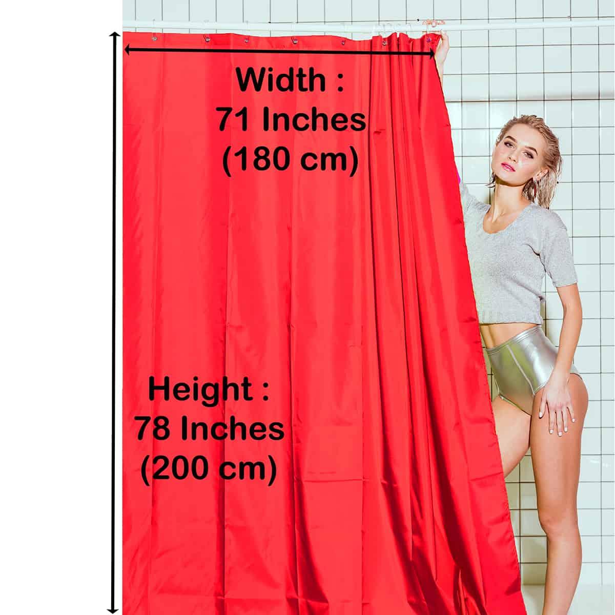 "Extra Length PEVA Bathroom Shower Curtain Almond Green 71""L x 79""H"