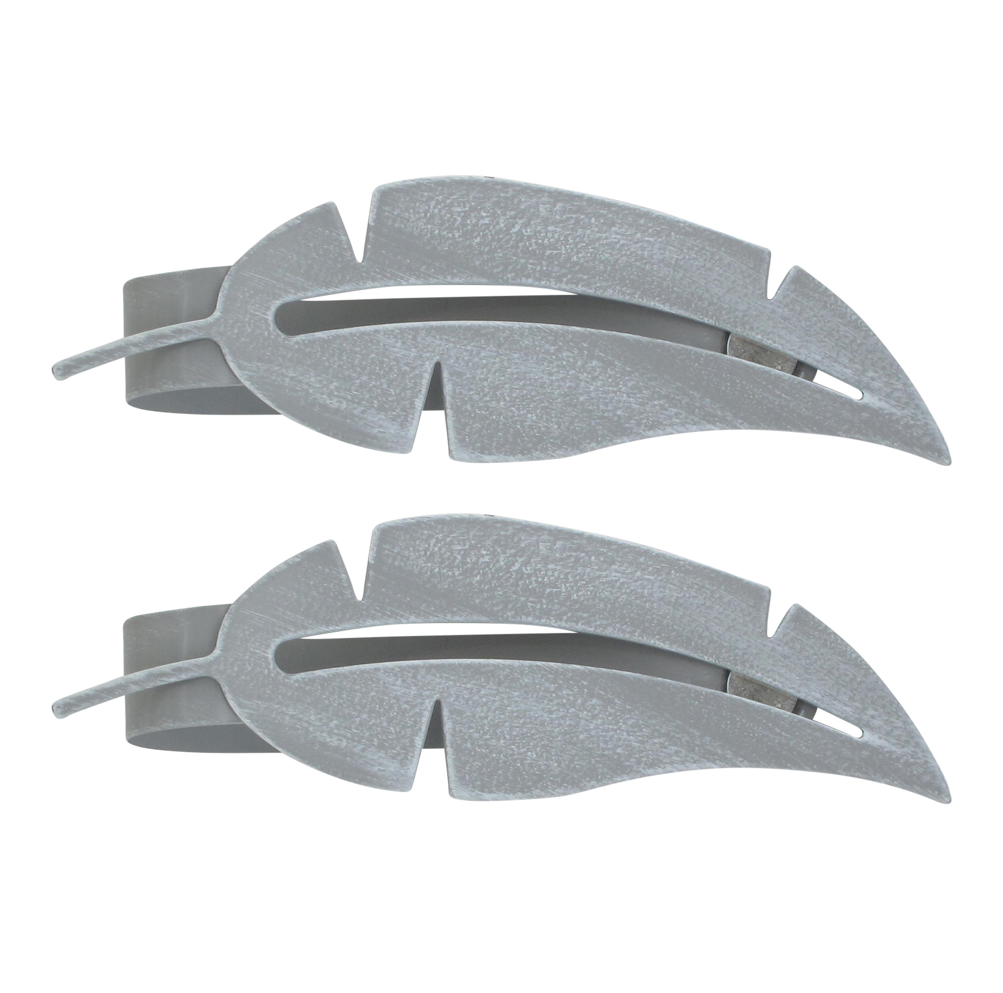 Set of 2 Metal Feather Tieback With Magnet Plume