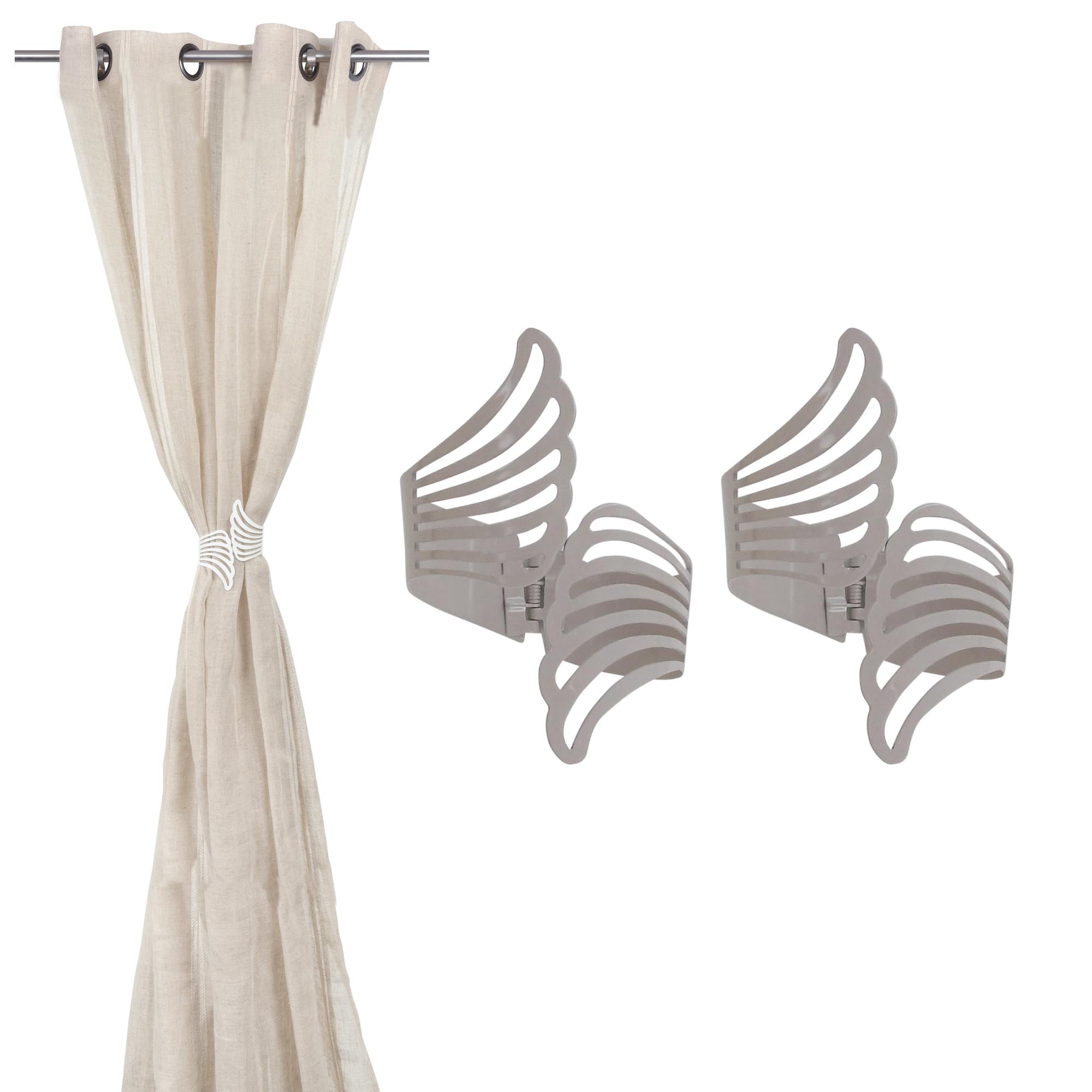 Set of 2 Cuff Metal Wings Tieback Angel