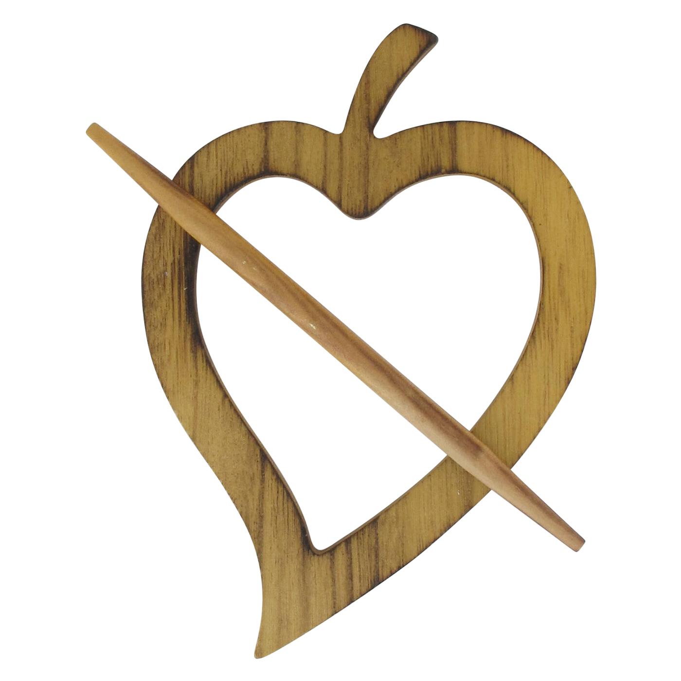 Wooden Heart Tieback Fjord Big Size