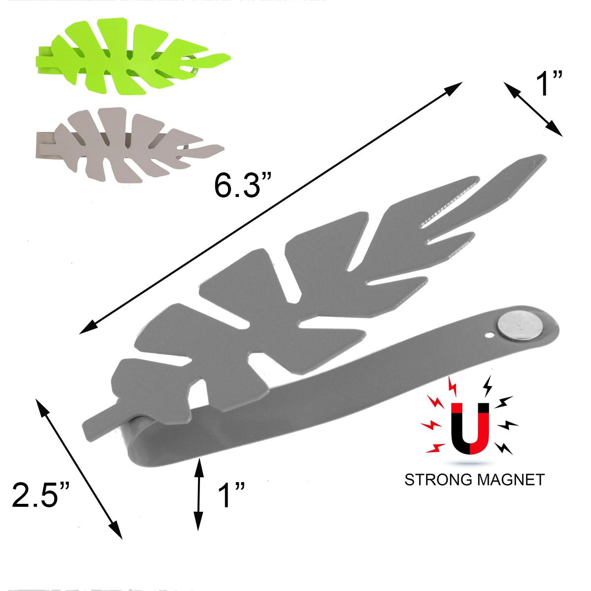 Set of 2 Metal Leaf Tieback Jungle With Magnet