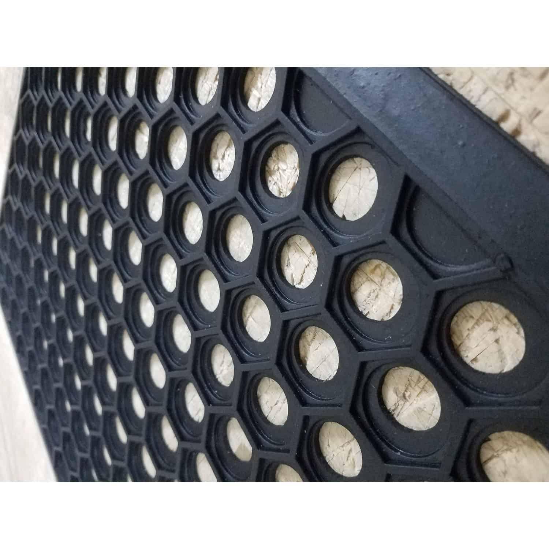 Outdoor Front Door Mat Harold Railing Rubber Rug 24x16 Black