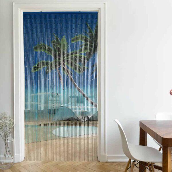 Bamboo Sticks Lagoon Beaded Curtain Doorway 90 Strings