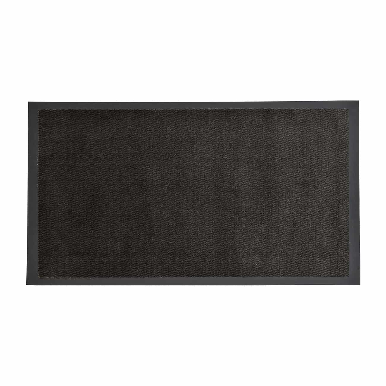 Indoor Large Door Mat Lisa 48 L x 32 W Inch PP-PVC - BLACK