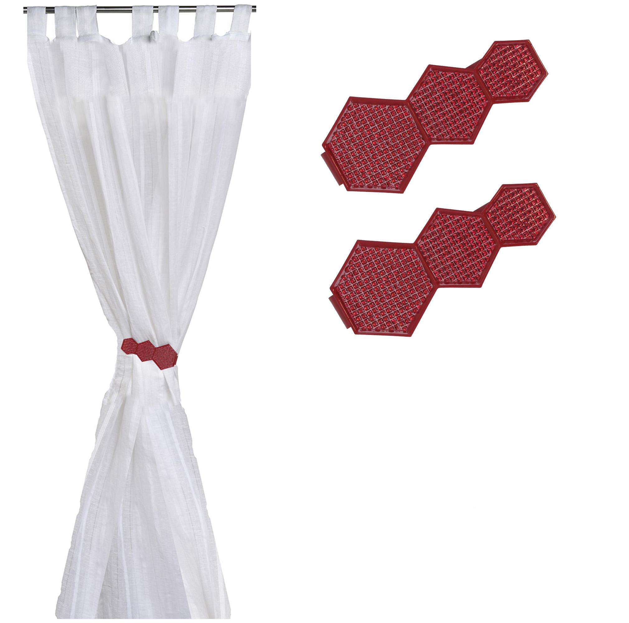 Set of 2 Metal Geometric Tieback With Magnet Monte Carlo